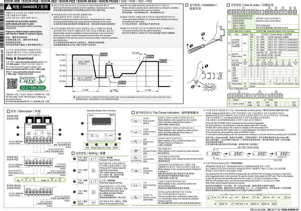 EOCR-3DE FDE 3EZ FEZ 3E420 FE420 说明书