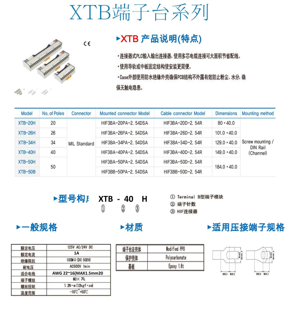 韩国进口端子台以及继电器模块、PLC输入输出电缆、终端继电器单元