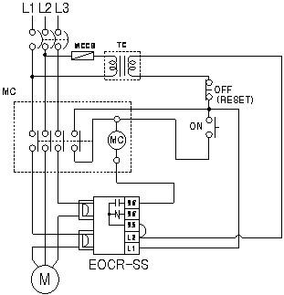 EOCR-SS05S/30S/60S电气接线图